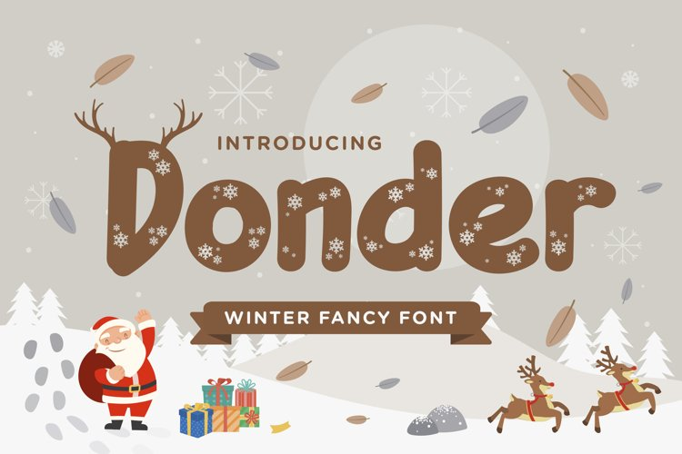 Donder - Winter Fancy Font example image 1