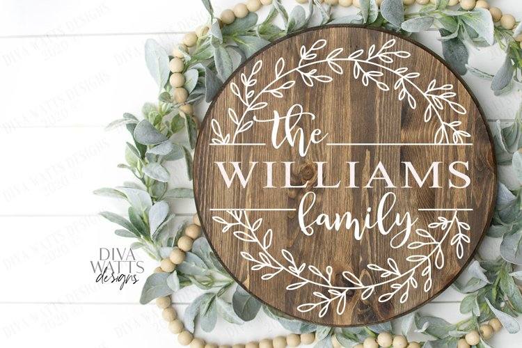 Family Sign - Farmhouse Style - You Customize - SVG Cut File example image 1