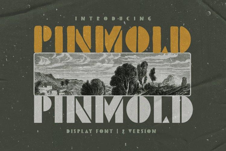 Pinmold - Modern Stencil Font example image 1