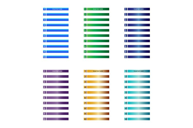 vector sequence rank info graphic chart example image 1