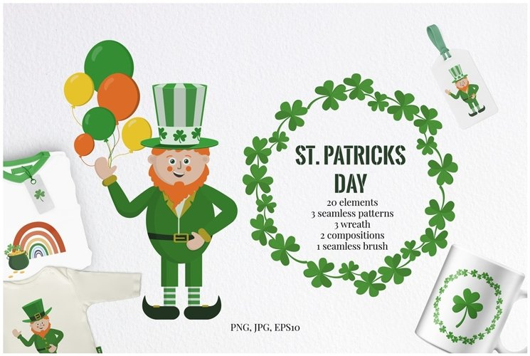 St. Patricks Day clipart in PNG, JPEG, EPS10
