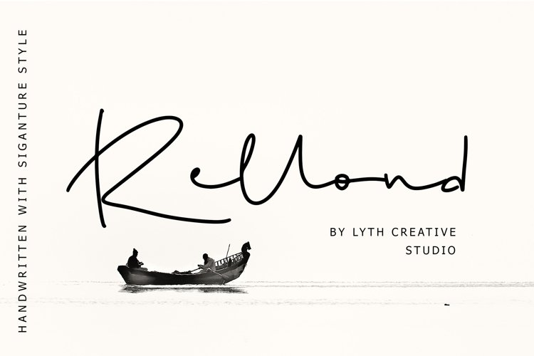 Rellond Signature Font example image 1
