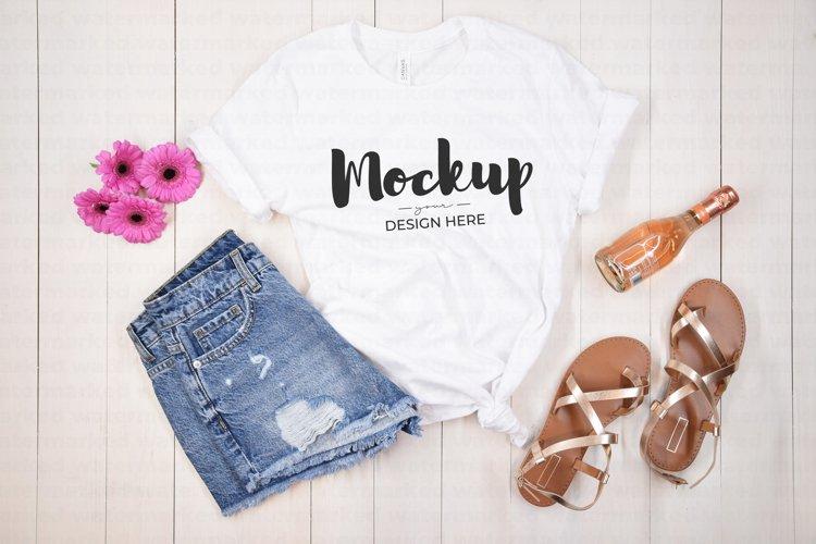 Party Shirt Mockup, White Shirt Mock up, Bella Canvas