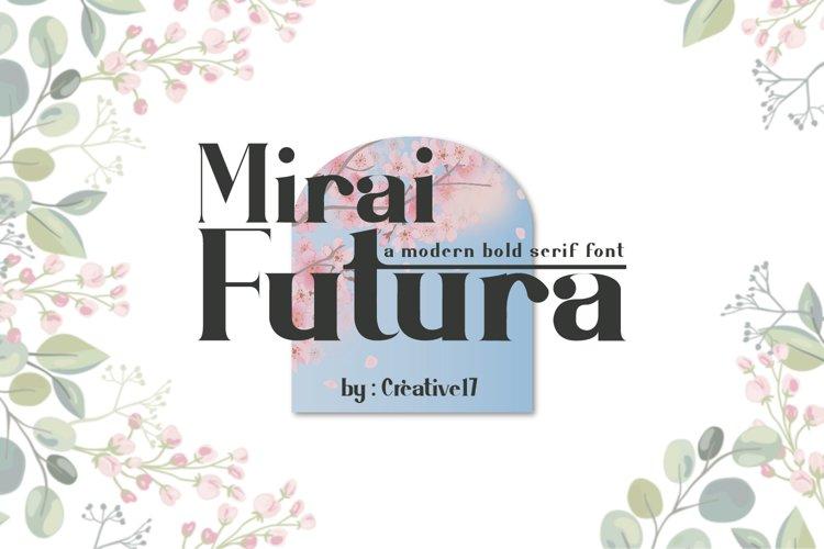 Mirai Futura Font example image 1