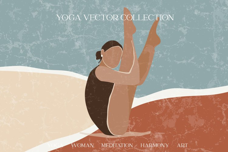 Yoga abstract graphic collection. Magic abstract women