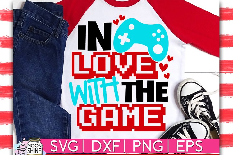 In Love With The Game SVG DXF PNG EPS example image 1