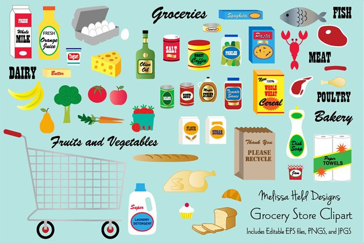 Grocery Store Clipart example image 1