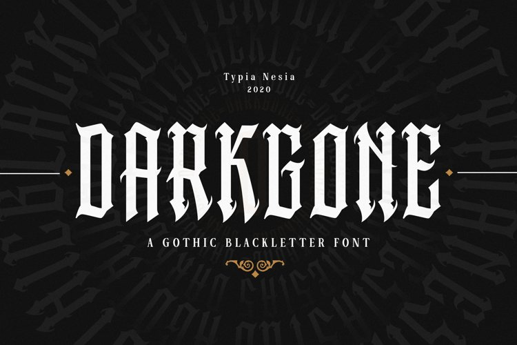 Darkgone - Gothic Blackletter example image 1