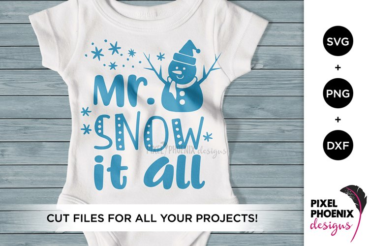 Mr Snow it All SVG with snowman - Christmas SVG example image 1