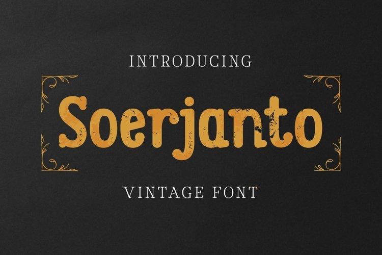 Web Font Soerjanto Font example image 1