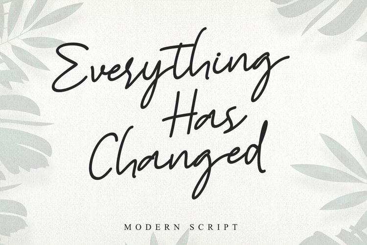 Everything Has Changed example image 1