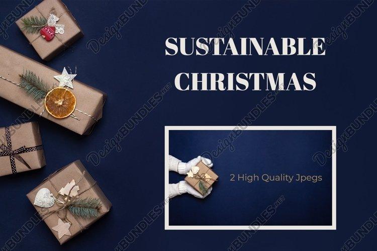 Navy blue Christmas bundle with sustainable decor