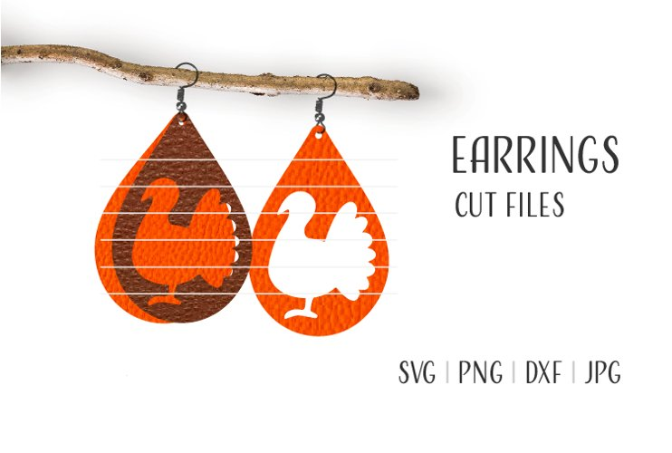 Thanksgiving Earrings Svg / Leather / Faux / Wood / Cut