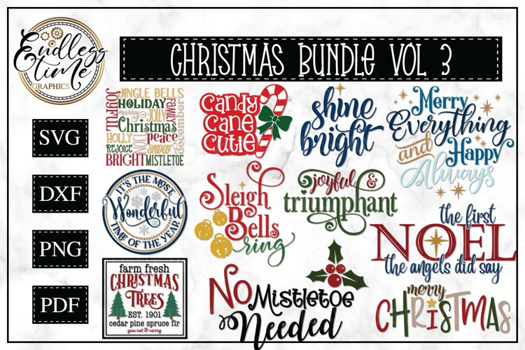 Christmas Bundle Volume 3 - A Christmas SVG Collection example image 1