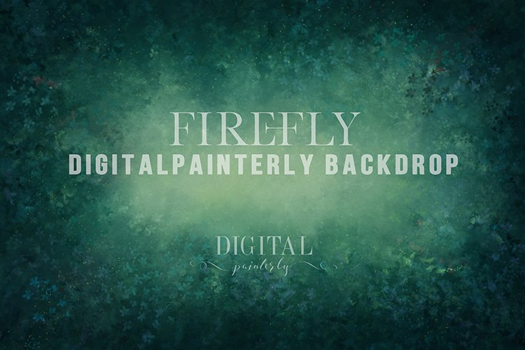 Firefly - hand painted digital background, fine art