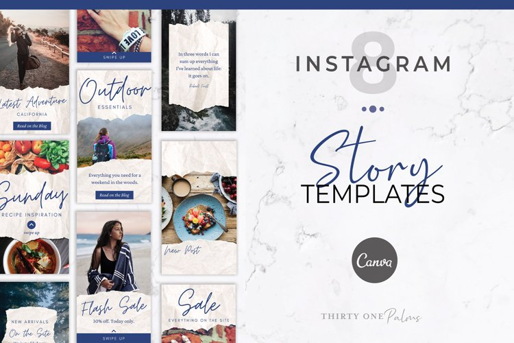 Instagram Story Templates for Canva | Torn Paper example image 1