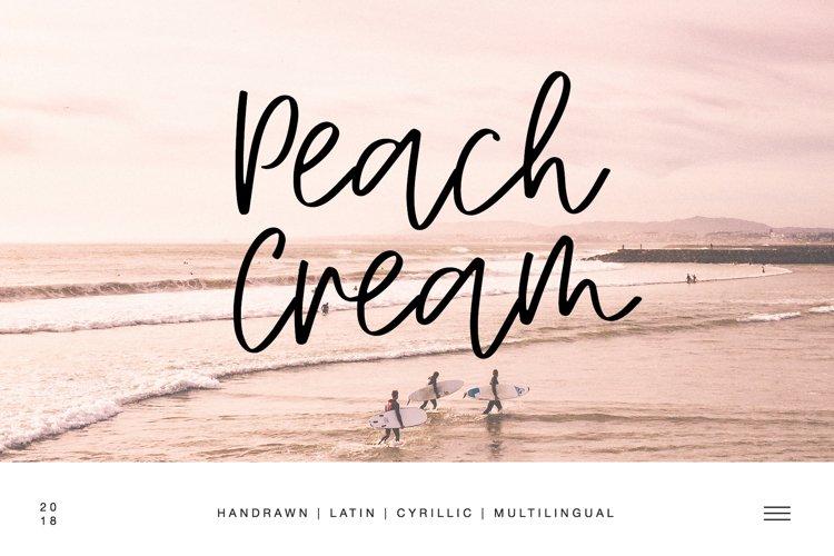 Peach Cream Latin & Cyrillic example image 1