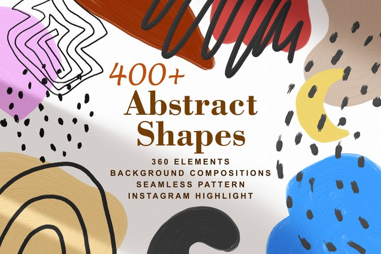 400 Abstract Shapes Elements, Pattern, Instagram, Background