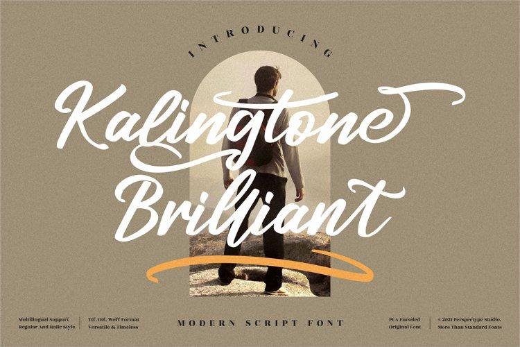 Kalingtone Brilliant - Modern Script Font example image 1