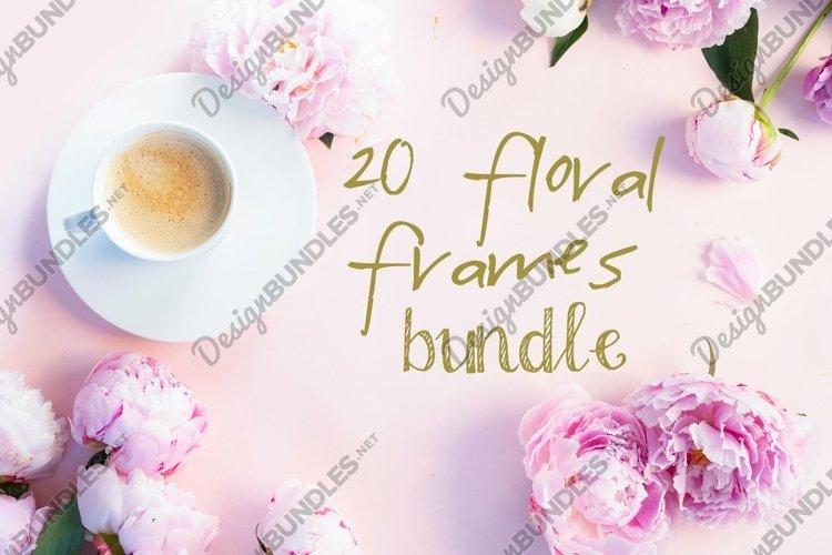 20 floral photo frames