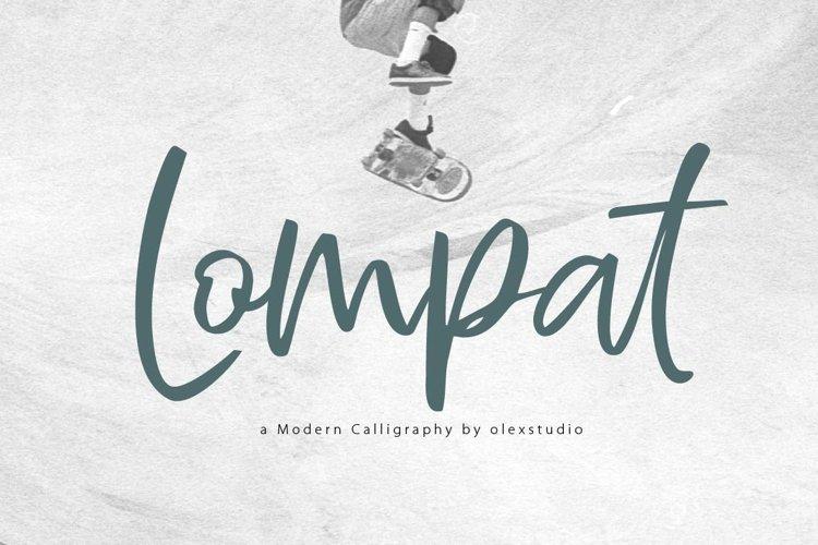 Lompat - Luxury Handlettered Font example image 1