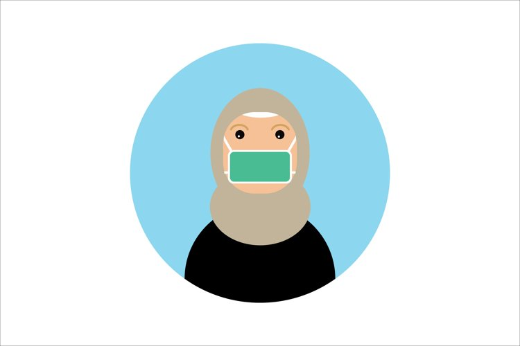 Icon Character Hijab Women Wear Mask example image 1