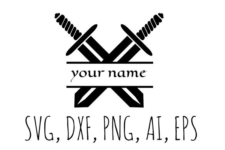 Crossed Swords Split Monogram