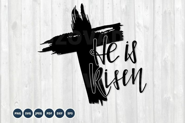 He is Risen SVG cut file. Christian svg. Easter SVG example image 1