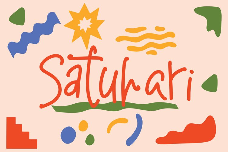 Satuhari - Children's Writing Font example image 1