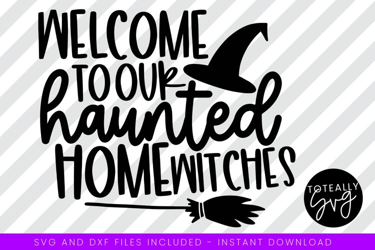 Welcome To Our Haunted Home Halloween SVG. example image 1