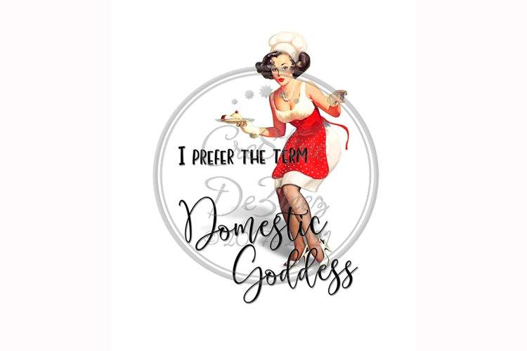 Domestic Goddess, Funny Towel Pun, Sublimation Kitchen example image 1