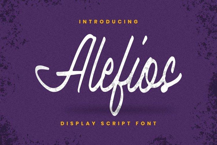 Web Font Alefios Font example image 1