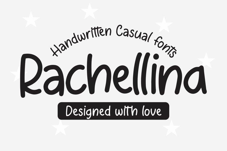 Web Font Rachellina - Handwritten Casual Font example image 1