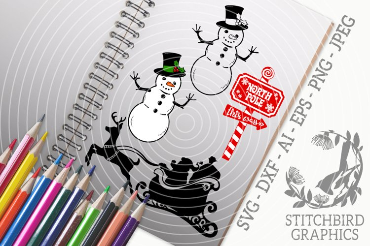 Traditional Christmas Bundle SVG, Silhouette Studio, Cricut example image 1