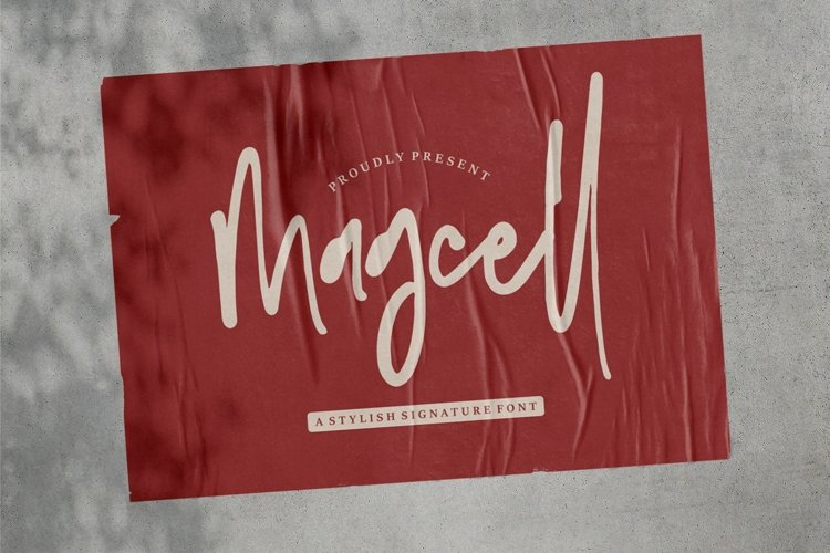 Magcell - A Stylish Signature Font example image 1