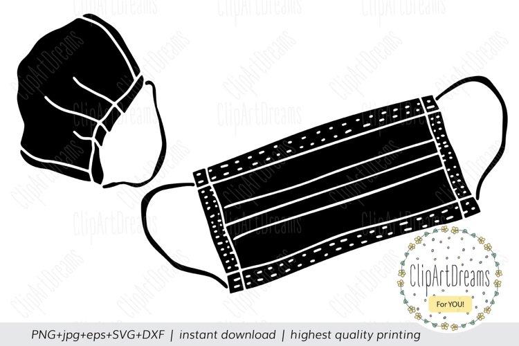 Medical mask SVG, Medical Nursing Surgical face mask cutting
