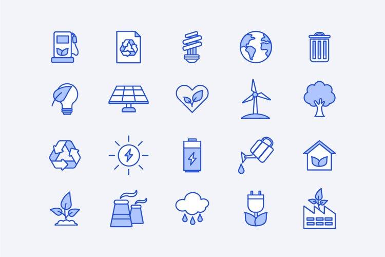 Blue Energy Icons example image 1