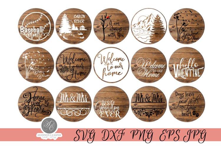 Round Sign SVG Bundle V1 - 30 designs