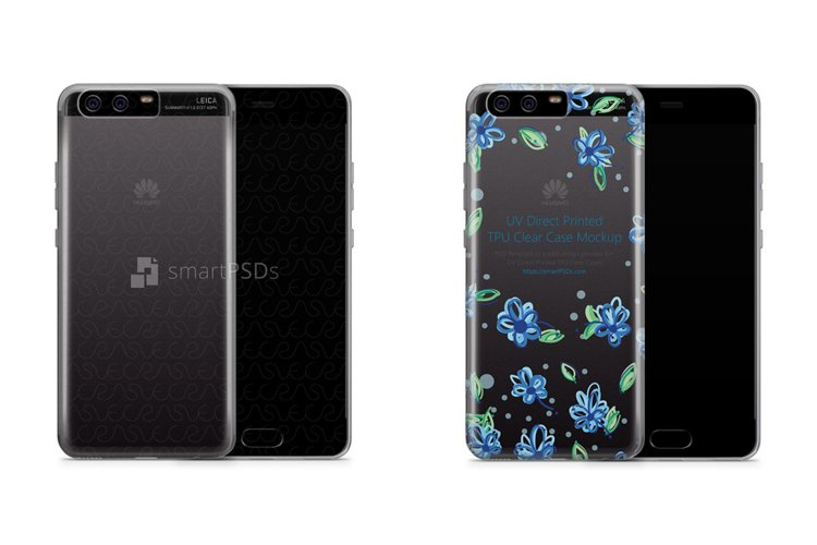 Huawei P10 UV TPU Clear Mobile Case Design Mockup 2017 example image 1