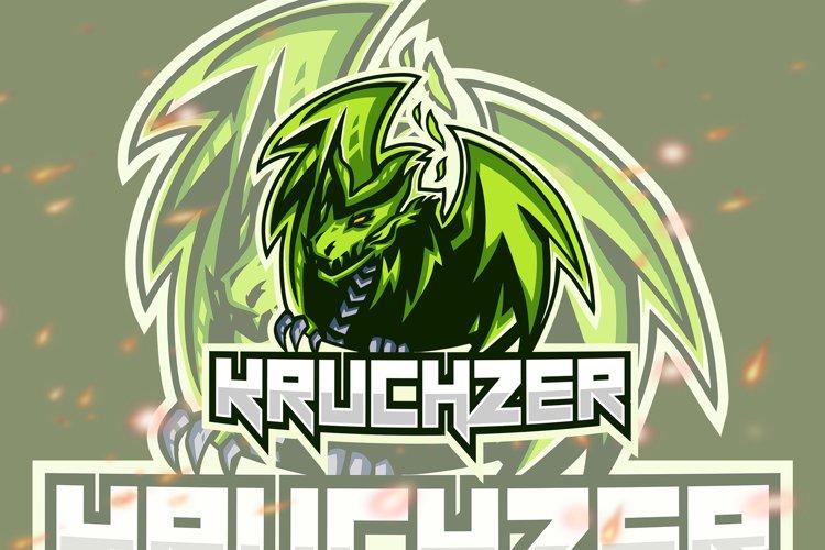 Kruchzer Dragon Animal Esport Gaming Logo