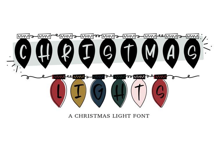 Christmas Lights - A Hand Lettered Christmas Font