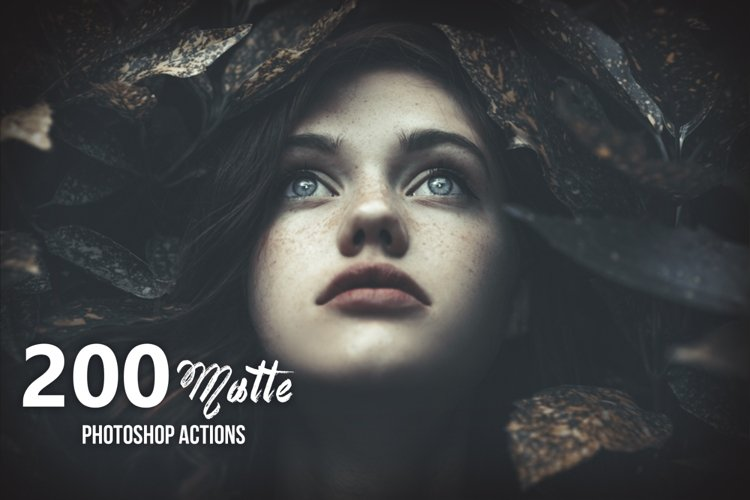 200 Matte Photoshop Actions example image 1