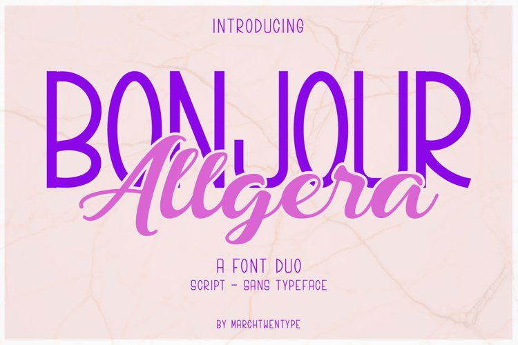 Bonjour Allgera - Font Duo example image 1