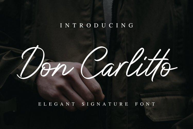 Don Carlitto - Elegant Signature Font example image 1