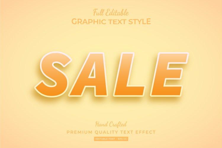 Orange Sale Text Style Effect Premium example image 1