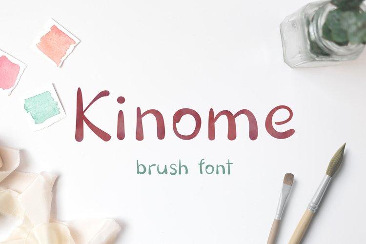 Kinome - Brush font example image 1