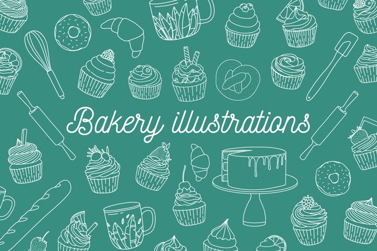 Pack of bakery illustrations example image 1