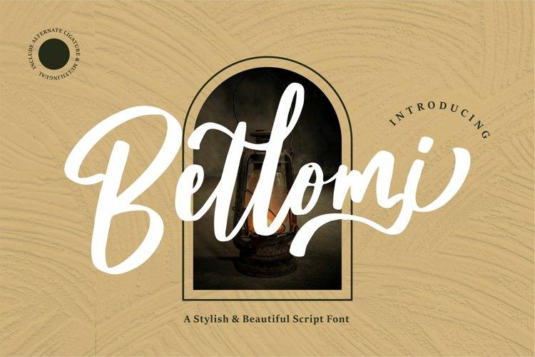 Bellomi - A Stylish & Beauty Script Font example image 1