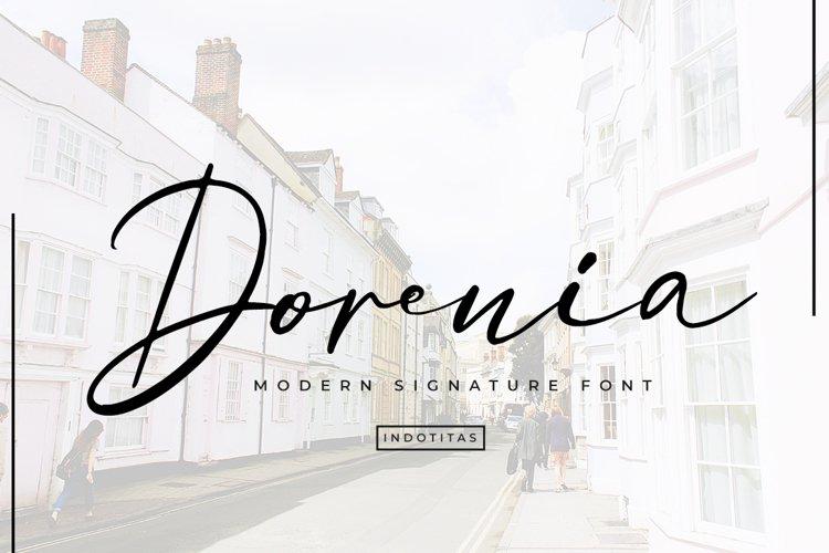 Dorenia Signature Font example image 1