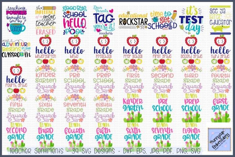 Teacher Sentiments - SVG, Clipart Printables - 39 Designs example image 1